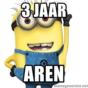 Despicable Me Minion - 3 jaar aren