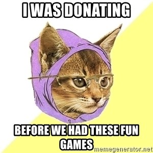 Hipster Kitty - I was donating before we had these fun games