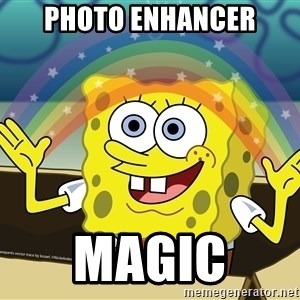 spongebob rainbow - photo enhancer magic
