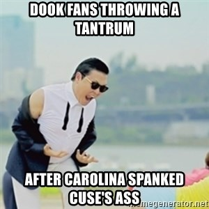 Gangnam Style - Dook fans throwing a tantrum after carolina spanked cuse's ass