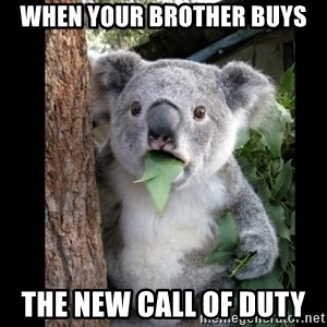 Koala can't believe it - When your brother buys The new call of duty