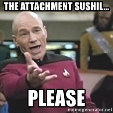 Captain Picard - The attachment Sushil... PLEASE