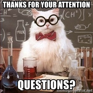 Science Cat - Thanks for your attention Questions?