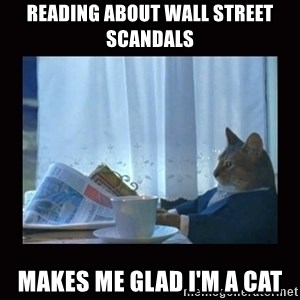 i should buy a boat cat - Reading about Wall Street scandals makes me glad I'm a cat