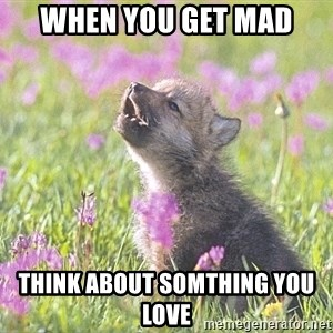 Baby Insanity Wolf - When you get mad Think about somthing you love