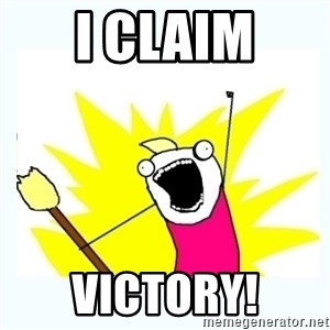 All the things - i claim victory!