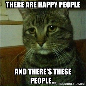 Depressed cat 2 - There are happy people and there's these people...