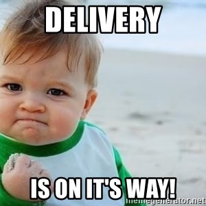 fist pump baby - Delivery Is On It's Way!