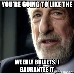 mens wearhouse - You're going to like the  weekly bullets. I gaurantee it