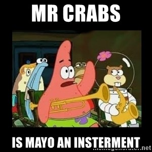 Patrick Star Instrument - mr crabs  is mayo an insterment