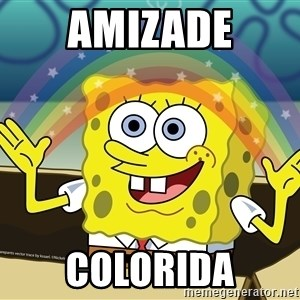 spongebob rainbow - Amizade Colorida