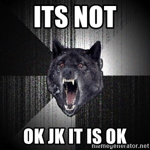 Insanity Wolf - its not  ok jk it is ok