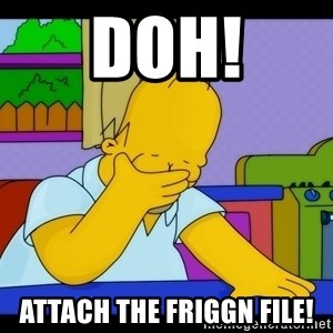Homer Facepalm - Doh! Attach the friggn file!