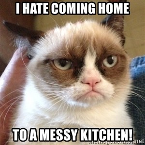 Grumpy Cat 2 - i hate coming home to a messy kitchen!