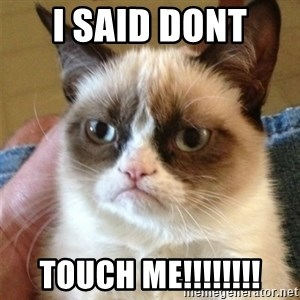 Grumpy Cat  - I said dont  Touch me!!!!!!!!