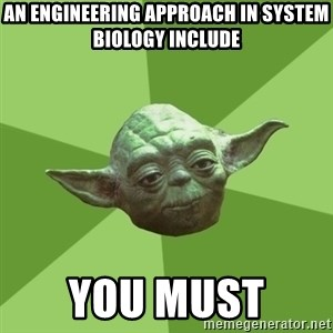 Advice Yoda Gives - an engineering approach in system biology include you must