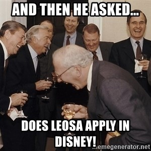 So Then I Said... - And then he asked... Does LEOSA apply in Disney!
