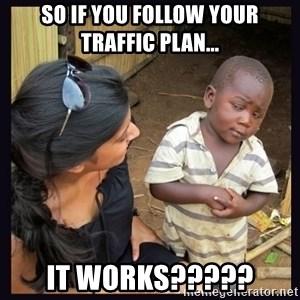 Skeptical third-world kid - So if you follow your traffic plan... It works?????
