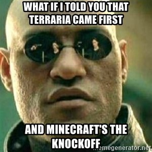 What If I Told You - What if I told you that Terraria came first and Minecraft's the knockoff