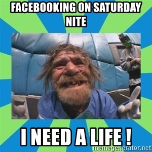 hurting henry - facebooking on saturday nite i need a life !