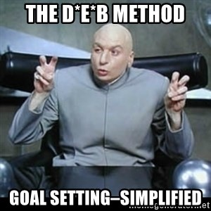 dr. evil quotation marks - THE D*E*B METHOD GOAL SETTING–SIMPLIFIED