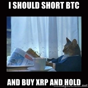 i should buy a boat cat - I should short BTC And buy XRP and hold