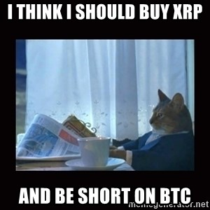i should buy a boat cat - I think I should buy XRP And be short on BTC