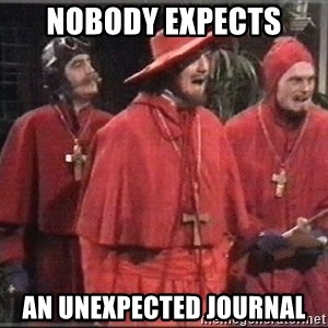 spanish inquisition - Nobody expects an unexpected journal