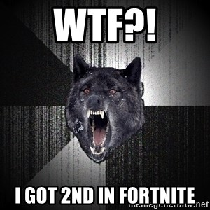 Insanity Wolf - WTF?! I GOT 2ND IN FORTNITE
