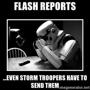 Sad Trooper - FLASH REPORTS ...EVEN STORM TROOPERS HAVE TO SEND THEM