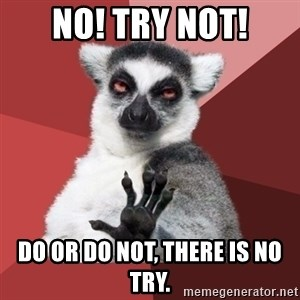 Chill Out Lemur - No! Try not! Do or do not, there is no try.