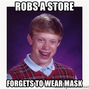 nerdy kid lolz - robs a store forgets to wear mask