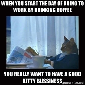 i should buy a boat cat - when you start the day of going to work by drinking coffee you really want to have a good kitty bussiness
