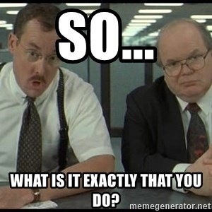 Office space - So... What is it exactly that YOU do?