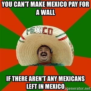 Successful Mexican - You can't make mexico pay for a wall If there aren't any mexicans left in mexico