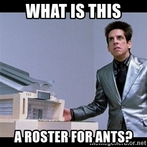 Zoolander for Ants - What is this A roster for ants?