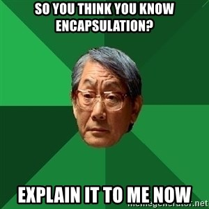 High Expectations Asian Father - So you think you know Encapsulation? Explain it to me now