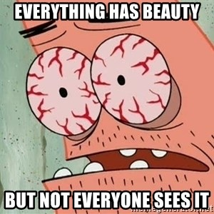 Patrick - Everything has beauty but not everyone sees it