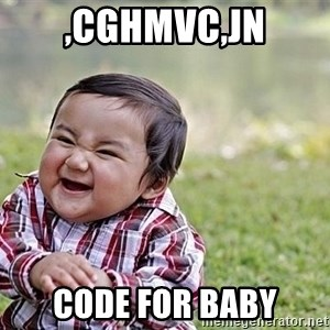 Evil Asian Baby - ,cghmvc,jn code for baby