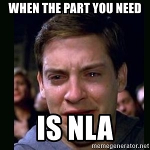 crying peter parker - When the part you need is NLA