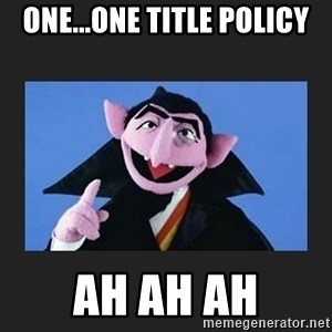 The Count from Sesame Street - One...One Title Policy Ah Ah Ah