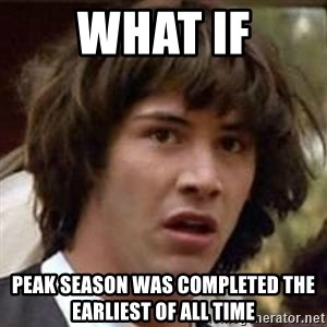Conspiracy Keanu - what if peak season was completed the earliest of all time