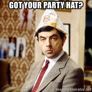 Mr Bean Christmas Hat - Got your party hat?