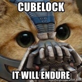 bane cat - Cubelock It will Endure