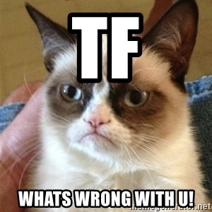 Grumpy Cat  - TF Whats wrong with u!