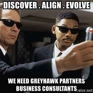 men in black - Discover . Align . Evolve We Need GreyHawk Partners           Business Consultants