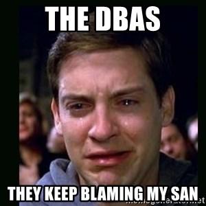 crying peter parker - the dbas they keep blaming my san