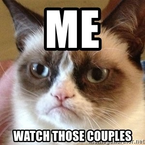 Angry Cat Meme - Me Watch those couples