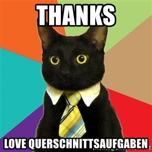Business Cat - thanks love querschnittsaufgaben