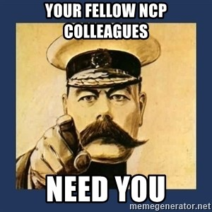 your country needs you - Your fellow NCP colleagues  Need you